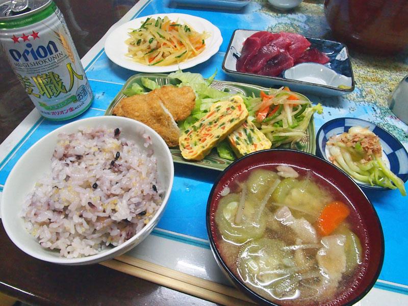照島荘さんの夕食