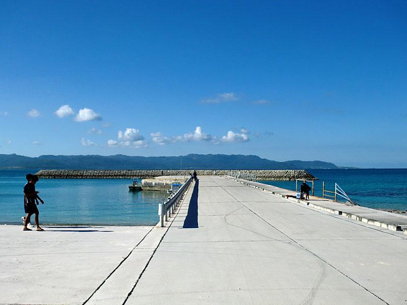 新城島の桟橋