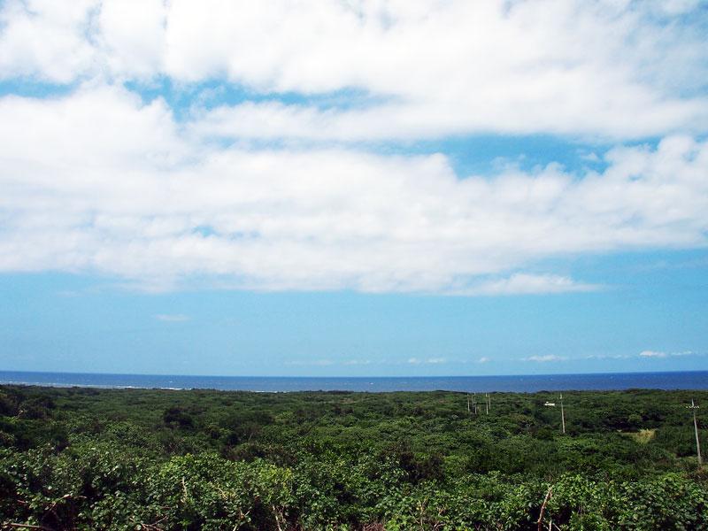 島の北側方向の眺め