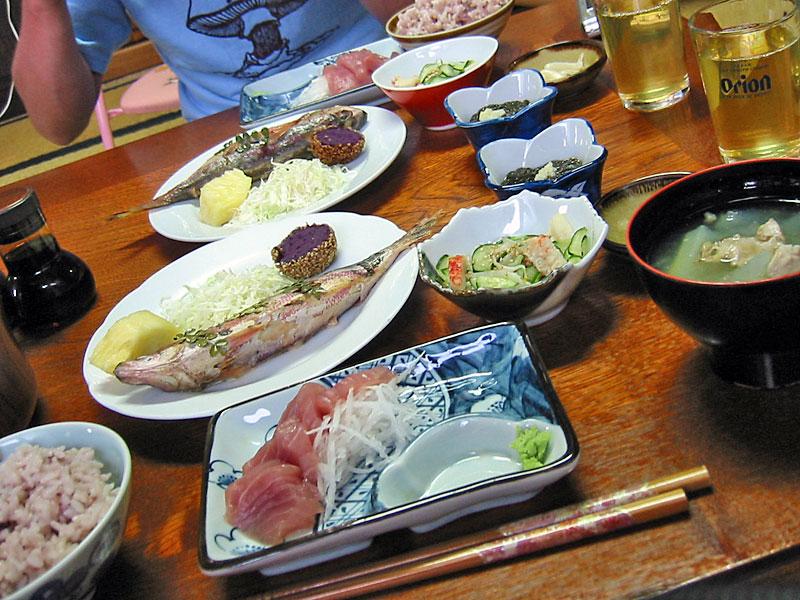 松竹荘さんの夕食